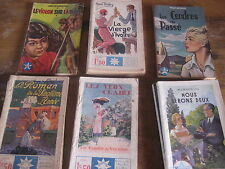 Lot de 9 livres de poche anciens Collection STELLA