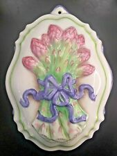 The Franklin Mint Le Cordon Bleu Porcelain Mold Asparagus 1986 Vibrant Colors!
