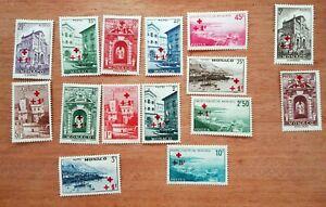 Monaco yt N°200/214 Red Cross 1940 New Hinged ch353
