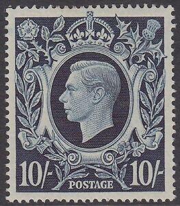 GB KGVI 10s. Dark Blue SG478 Ten Shillings George VI 1939 Mint Hinged Stamp 10/-