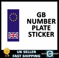 Outdoor Vinyl Sticker  Blue  Euro Plate & Union Jack  CASTLE PROMOTIONS V384