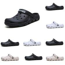 Mens Ventilated Garden Hollow Out Clogs Rubber Sole Slingback Summer Sandals New