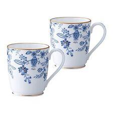 Noritake Bone china Blue Sorrentino Mugs pair set P97280/4562 Japan Tracking