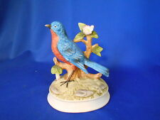 "Music Box Gorham 6"" Blue bird with red breast"