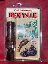Tim Grounds Hen Talk Double Reed Duck Call Cocobola