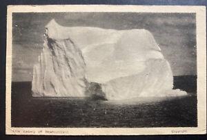 1944 Newfoundland CAPO 5 Censored RPPC Postcard Cover To Canada Iceberg