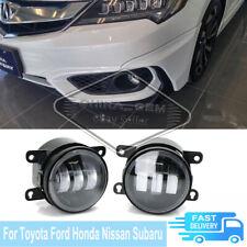 Fog Lights For Toyota Ford Honda Nissan Subaru White LED Lamps Bumper DLR Light