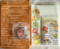 """Vintage 1981 Avon """"COUNTRY KITCHEN"""" Magnets, Spice Sachet, Notepad -NEW, SEALED!"""