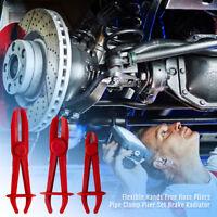 Car Flexible Dia 60-32-19mm Hose Pliers Pipe Clamp 3pc Plier Set Brake Radiator