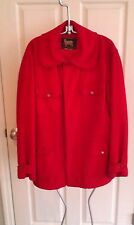 Vintage 50's Woolrich Woolen Mills Red Wool Hunting Jacket Large 42 USA Game