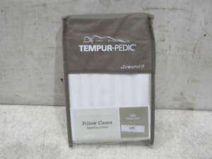 Tempur Pedic Queen Egyptian Cotton 2 Pillow Cases White 2106