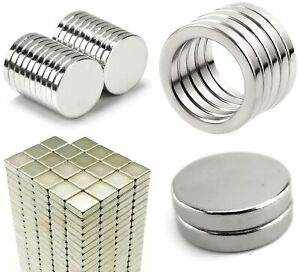 small large 2mm Thick ~ NEODYMIUM MAGNETS Discs, Cubes, Squares, Rings with Hole