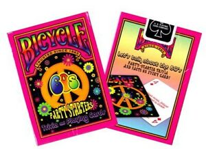 Bicycle 60's Deck Playing Cards Party Starters Flower Power Peace Facts/Trivia