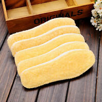 Men Women 1 Pair Useful Winter Soft Boot Shoe Pad Warm Fleece Thermal Insoles