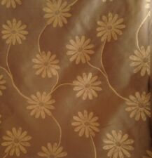 Prestigious Mary Quant Style Daisy Voile Copper Gold Curtain Fabric 13 Metres