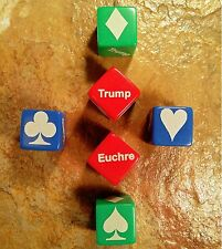 Euchre Trump Indicator Cube Marker Laser Engraved - Small (Red, Green, or Blue)