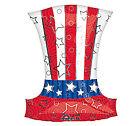 "Patriotic Balloons Uncle Sam Hat Balloon 25"" x 17""             '"