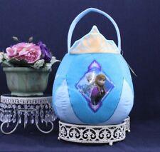 DISNEY FROZEN  Elsa & Anna Plush Easter Basket Teal NWT 3+ Grass & Eggs H 45 46