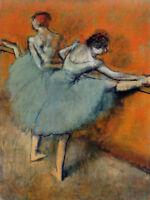 Dancers at the Barre by Edgar Degas Ballerinas Art Canvas Print Home Decor 8x10