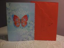 Carol's Rose Garden - Happy Birthday - A  Beautiful Red & Blue Butterfly
