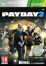 PAYDAY 2 Xbox 360 XBOX360 Shooting Video Game Original UK Release Sealed