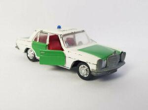 SCHUCO 1/66 MERCEDES 200 Polizei No. 806 Modellauto
