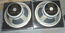 Pair of Celestion G12 Vintage 30 loudspeakers for guitar; 16 ohms, 60 watts