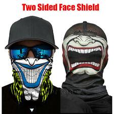 Two-sided Face Shield Sun Clown Mask Balaclava Neck Gaiter Fishing Headwear UV