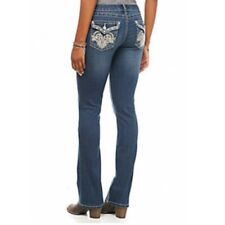 EARL JEANS Size 22W  Embroidered Jean  Bling Pocket's  Slim Boot Cute!