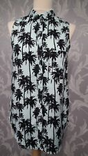 Mint Green Sleeveless Top With Palm Tree Print fromH&M size 8