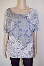 f54240373 DESIGUAL sz S WOMENS BLOUSE TOP T-SHIRT TUNIC SHORT SLEEVE SUMMER KIMONO  VISCOSE