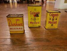 2 Colman's Mustard Tin And Durkee's Mustard Tin