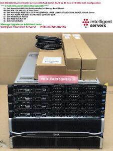 Dell MD3260 DC Array 160TB SAS 4x Dell R620 V2 80 Cores 1TB DAS Configuration