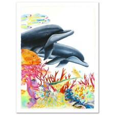 """Wyland """"Sea of Color"""" Signed Canvas Limited Edition Art COA"""