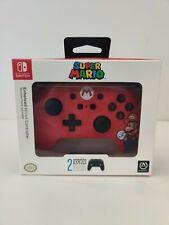 PowerA SUPER MARIO Nintendo Switch Red Enhanced Wired Controller Gamepad NEW