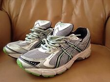 Asics Gel-1160 Silver/Green lines Running Shoes. Size 6.5 US mens. pre-owned!