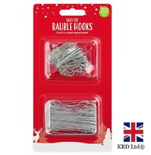 200 x CHRISTMAS TREE HOOKS Bauble Ornament Hangers Hanging Decoration Wires UK