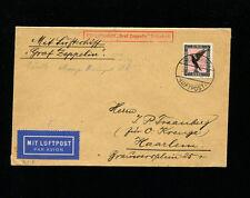 Zeppelin Sieger 41g 1929 Netherlands Flight Germany Post Friedrichshafen return