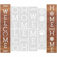 Stencils for Painting on Wood6Pcs Vertical Welcome Sign Home Sign Stencils Re...