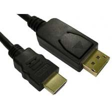 Display Port DP to HDMI Male LCD PC HD TV LAPTOP AV Cable DisplayPort Adapter 1m
