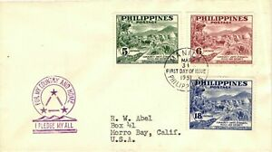 1951 Philippines Community Unity Strength Peace & Security First Day Cover