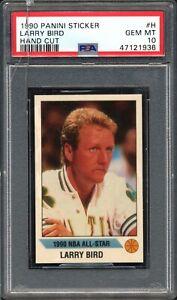 1990 Panini Sticker #H Larry Bird All-Star Game PSA 10 GEM MINT – Holder Cracked