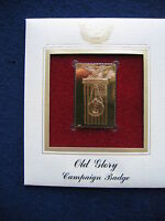 2003 Old Glory Campaign Badge Flag FDI Replica FDC 22kt Gold Golden Cover Stamp