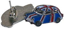 Earrings - Union Jack classic mini Cooper car