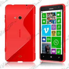 Housses Coque Etui Rouge TPU S Silicone GEL Motif S Vague Films Nokia Lumia 625