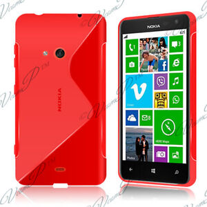 Covers Case Cover Red TPU S Silicone Gel Pattern S Wave Films Nokia Lumia 625