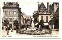 CP 21 CÔTE-D'OR - Dijon - Place des Cordeliers et Monument de Piron