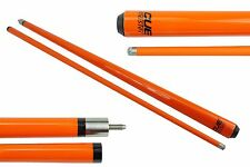 "CUE MASTER NEON MAPLE  Pool CUE 2-pce Orange 57"" - Snooker Billiard"