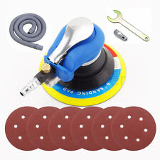 "Air Random Orbital Palm Sander 6"" 150mm Dual Action Auto Body With 6 Sandpaper"