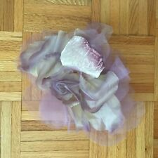 Fabric Silk Handmade Flowers Brooch Wedding Purple Lilac Rose Peony Lilly